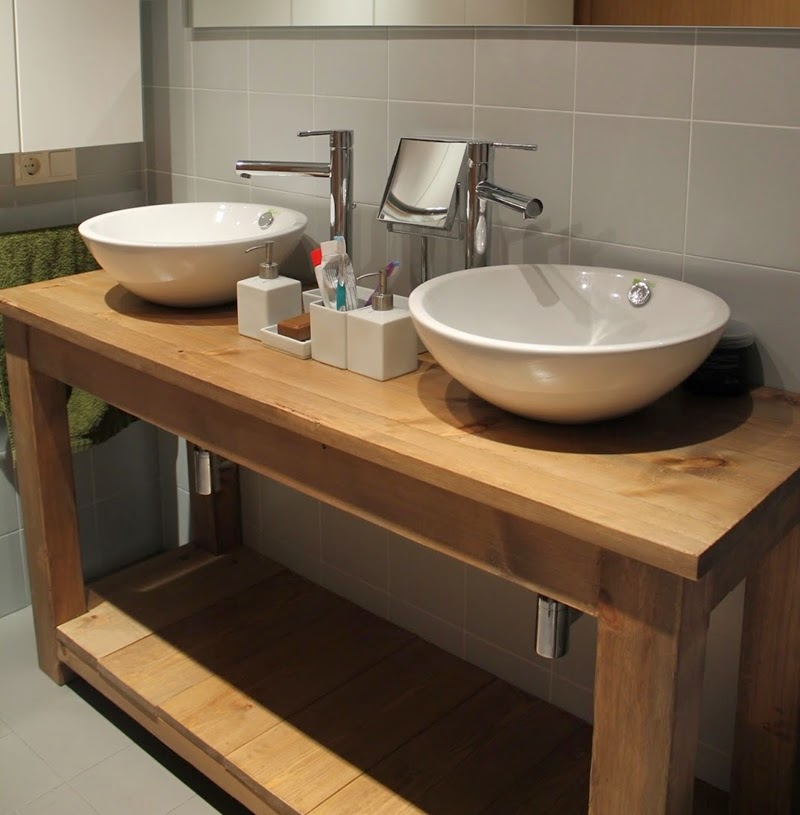 mesas para lavabo la clave para renovar el ba o On mesada madera para bano
