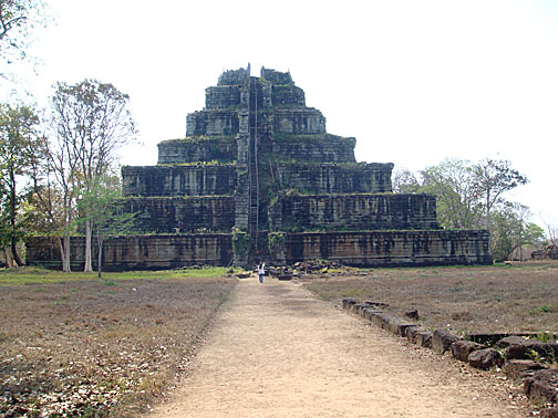 The Prasat Thom pyramid in 2012