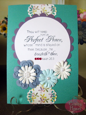 Christian Handmade Card - Perfect Peace