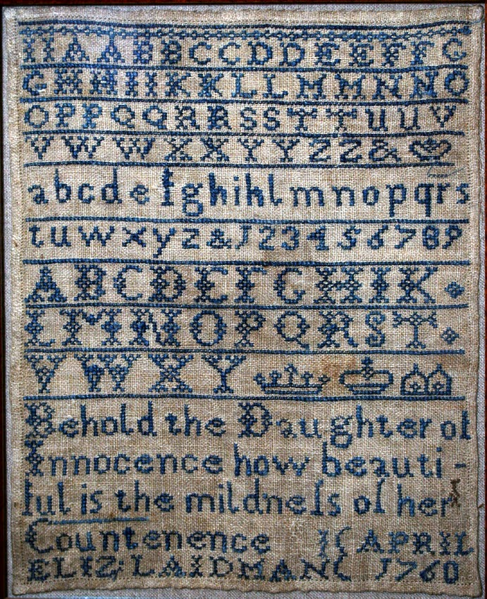 18th Century Sampler by Elizabeth Laidman