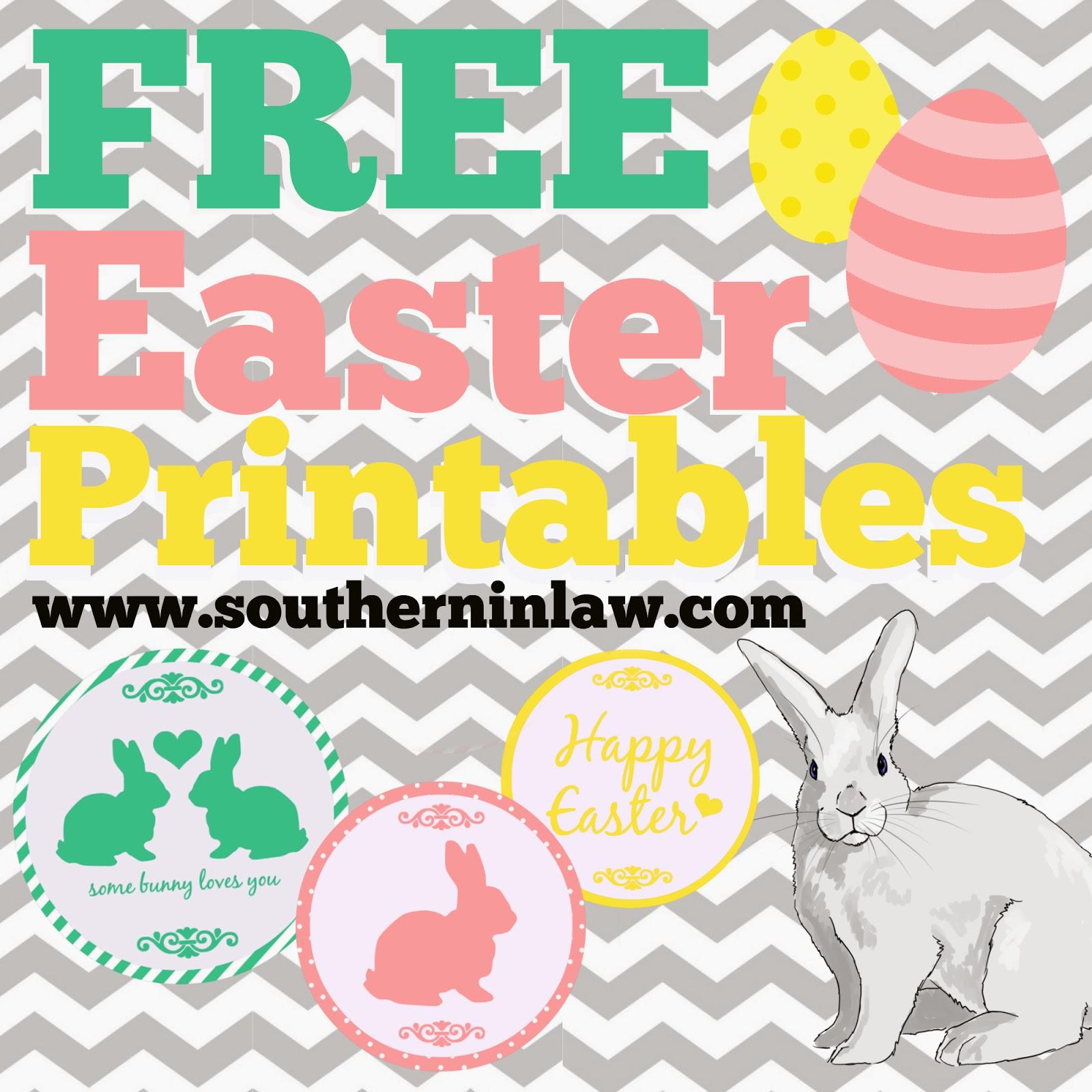 Free Easter Printables - Easter Mason Jar Lid Printables