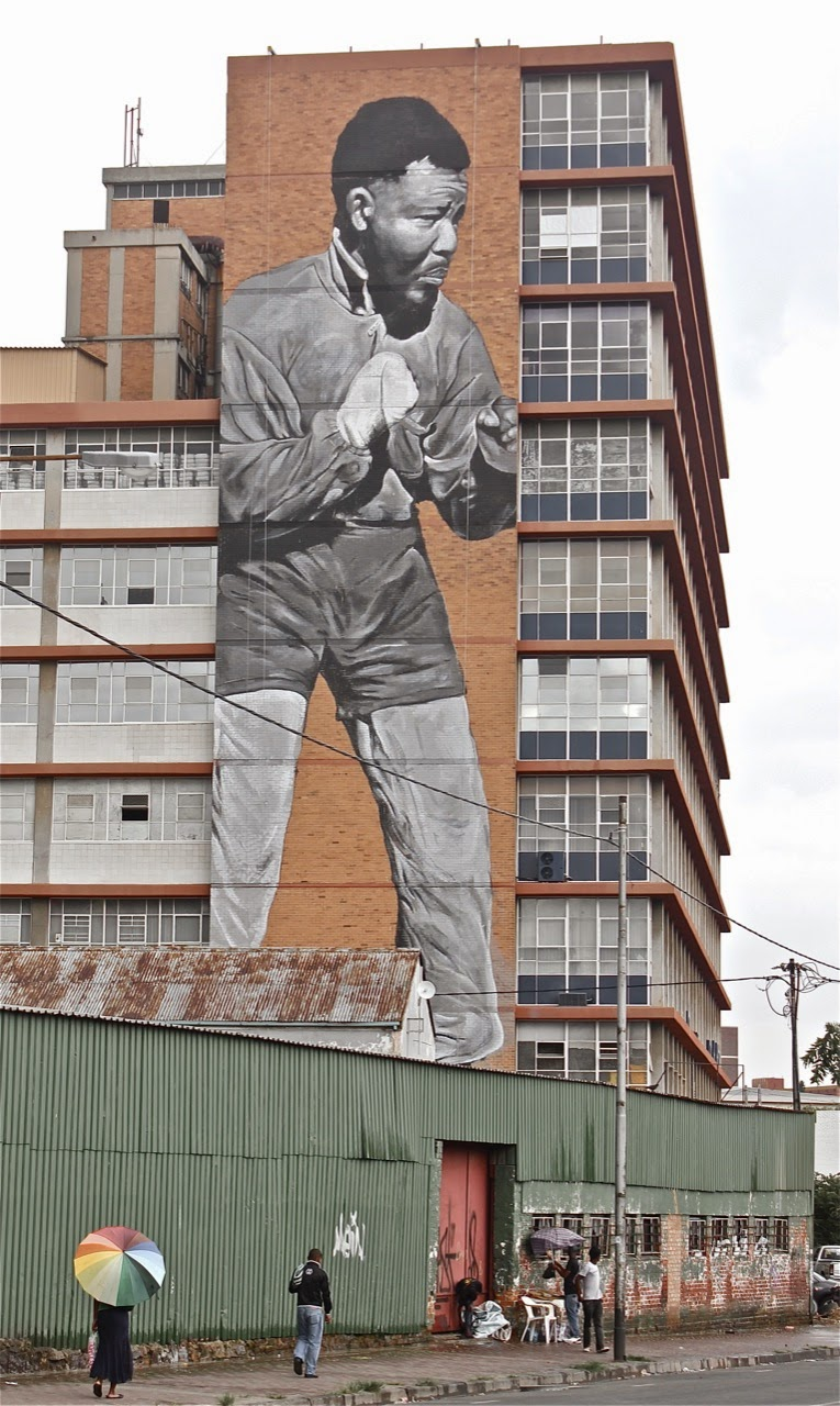 """I am Because We Are"" New Street Art Tribute to Nelson Mandela in Johannesburg, South Africa. 1"