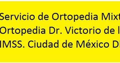 Colegio mexicano de ortopedia y traumatolog a mi rcoles for W de porter ortopedia