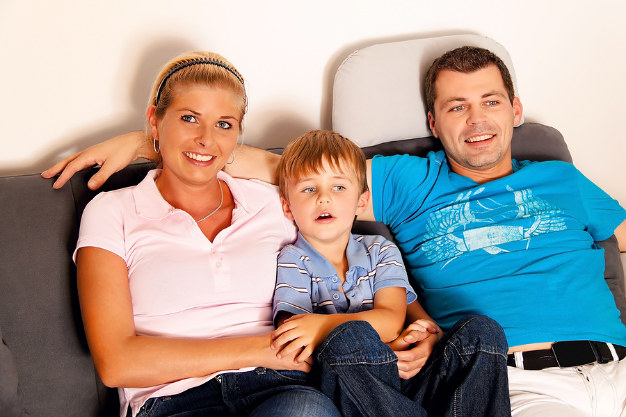 Little Boy With His Parents