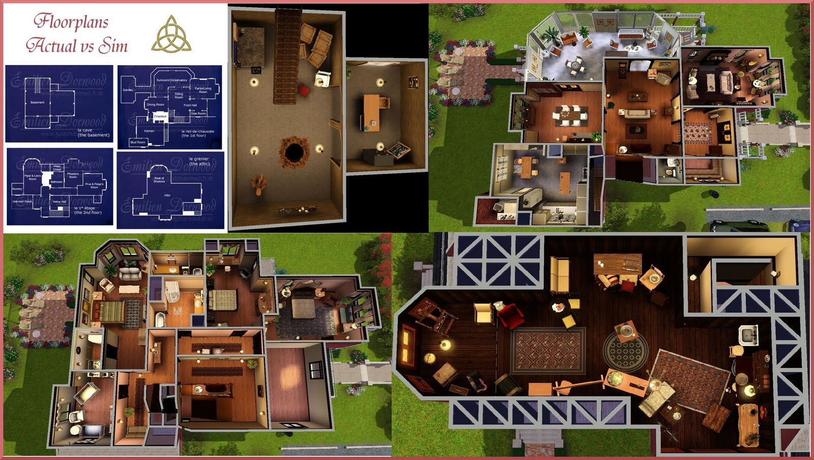 Charmed Halliwell Manor Floor Plan Sims on floor plans symbols list