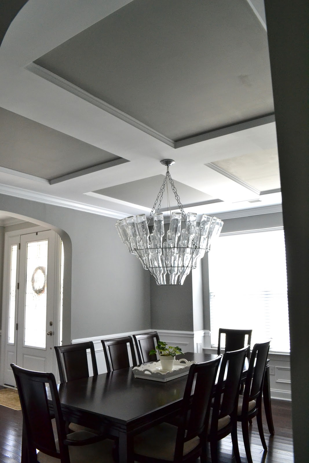 Shades of gray paint medium gray laforce be with you for Dining room grey walls