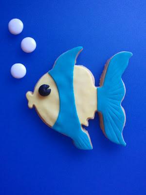 Galleta pez fondant
