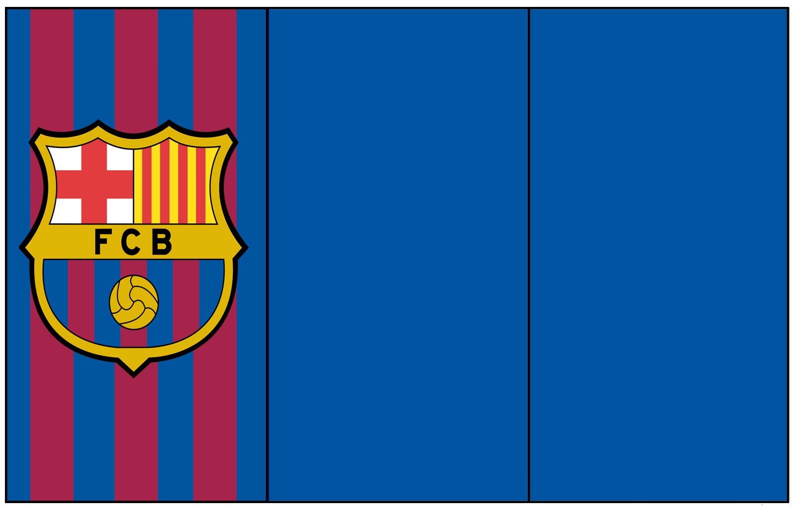 Aquarelinha Kit Futebol Barcelona