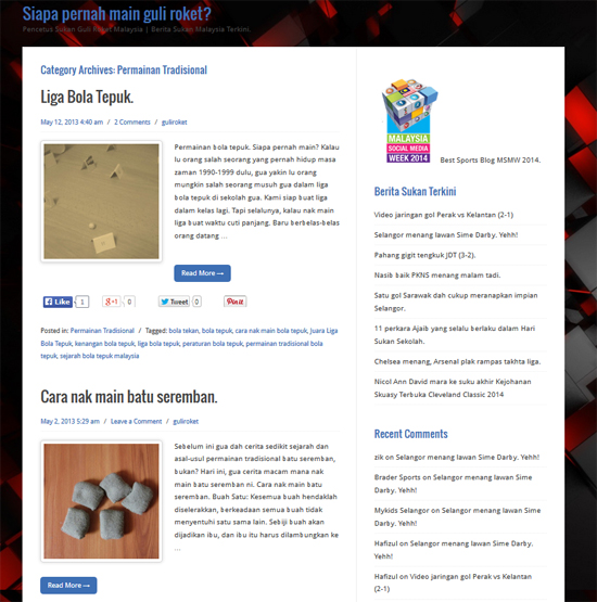 Blog sukan terbaik Malaysia 2014