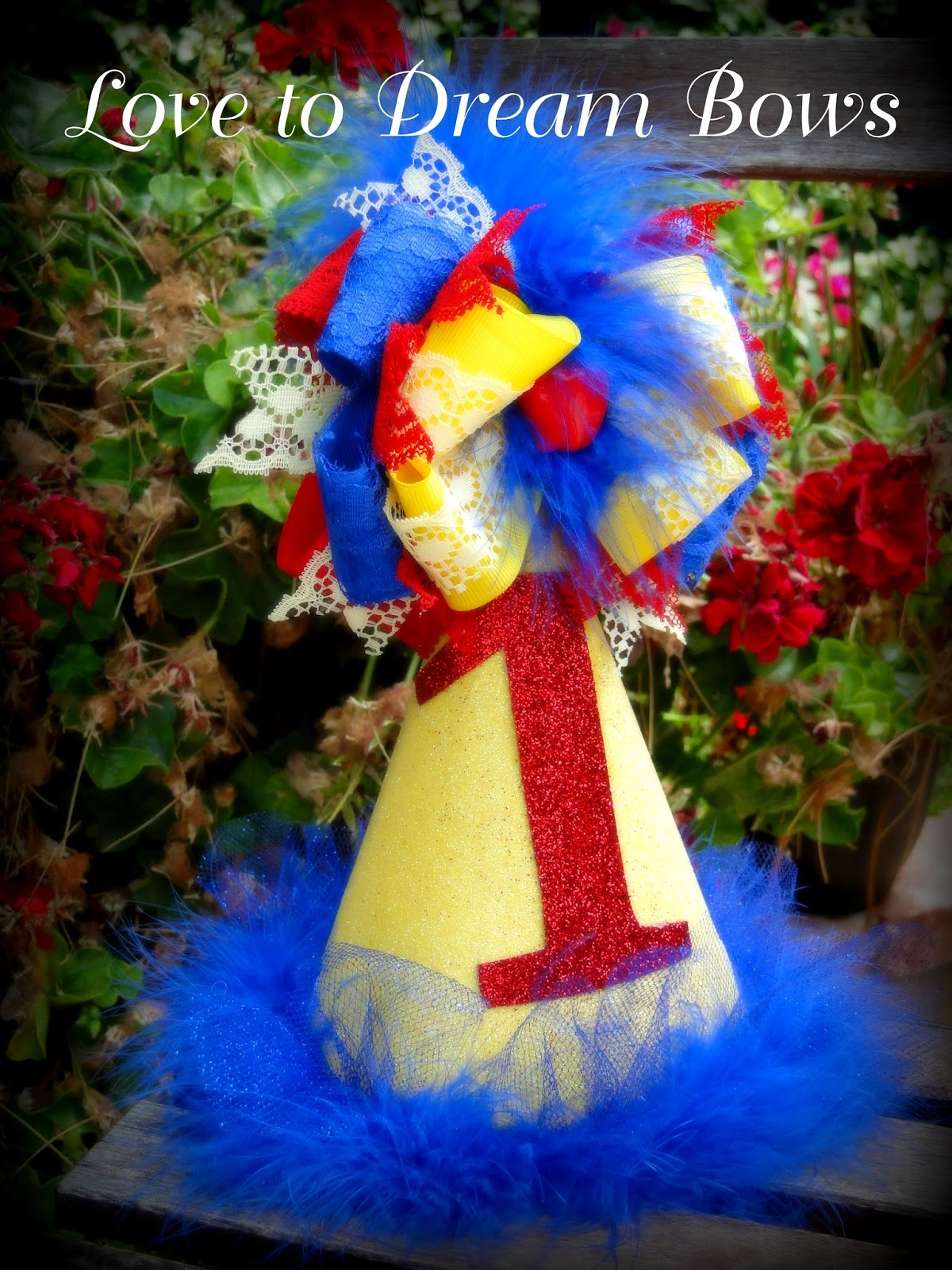 Happy 1st Birthday Special Order Hat In Snow White Theme