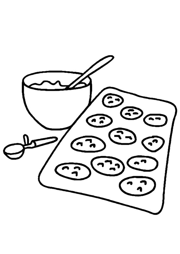 baked treats coloring pages - photo#4
