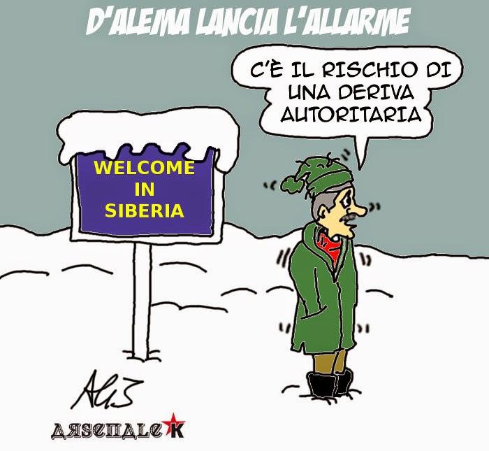 D'Alema, minoranza PD, Renzi, PD, satira, vignetta