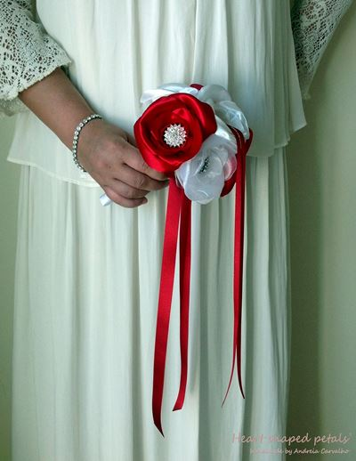 ring bearer in red and white