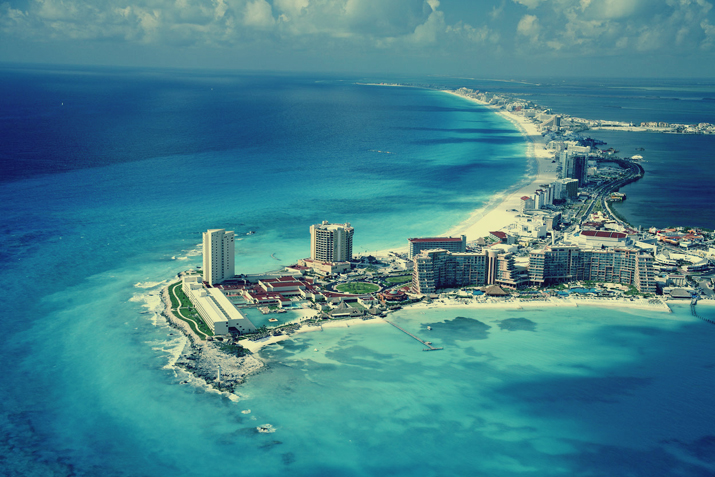 Foto aerea de Cancún, México en el blog de moda de Mónica Sors