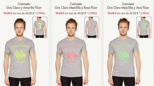 camisetas grises