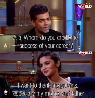 Funny moments of koffee with karan - Alia Bhatt