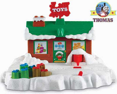 Thomas merry Christmas snow coated rail track Xmas lighting seasonal music lovely holiday decoration