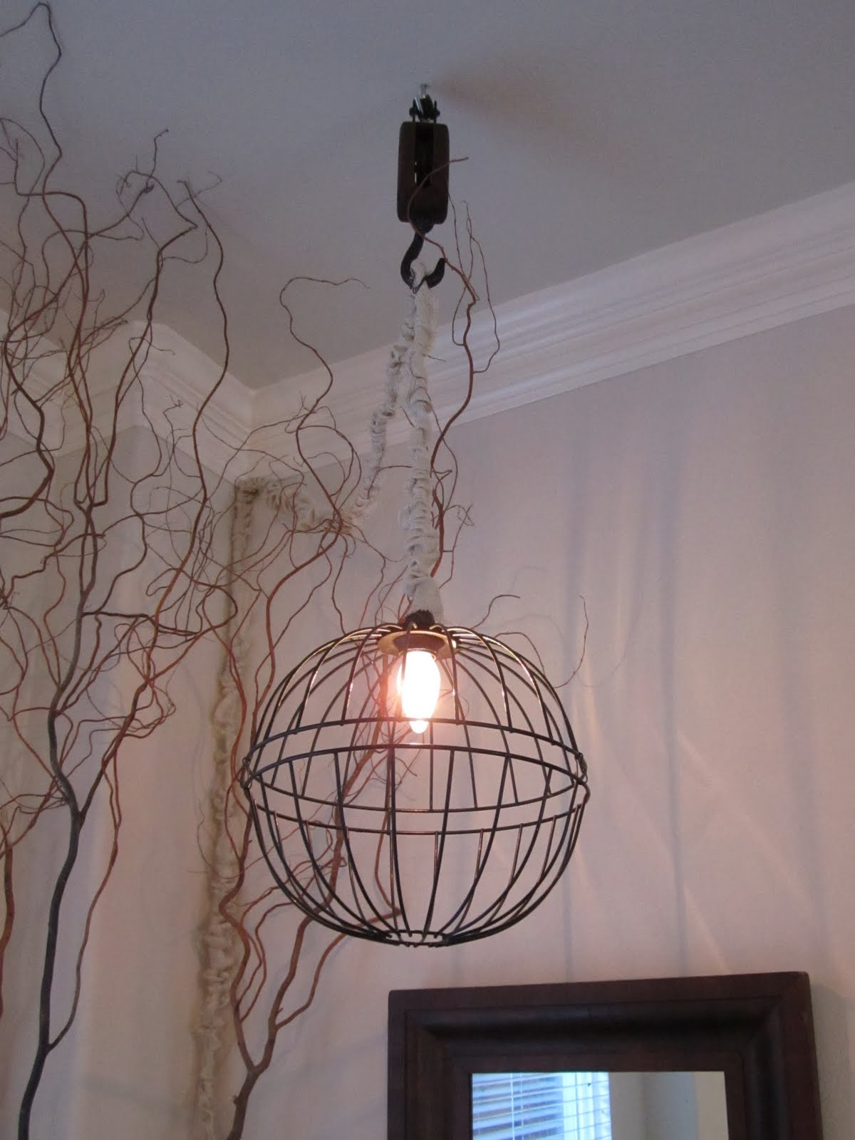 anythingology how to make a metal hanging light rh anythingologyblog blogspot com Wire Mesh Light Fixtures Wire Dome Pendant Light