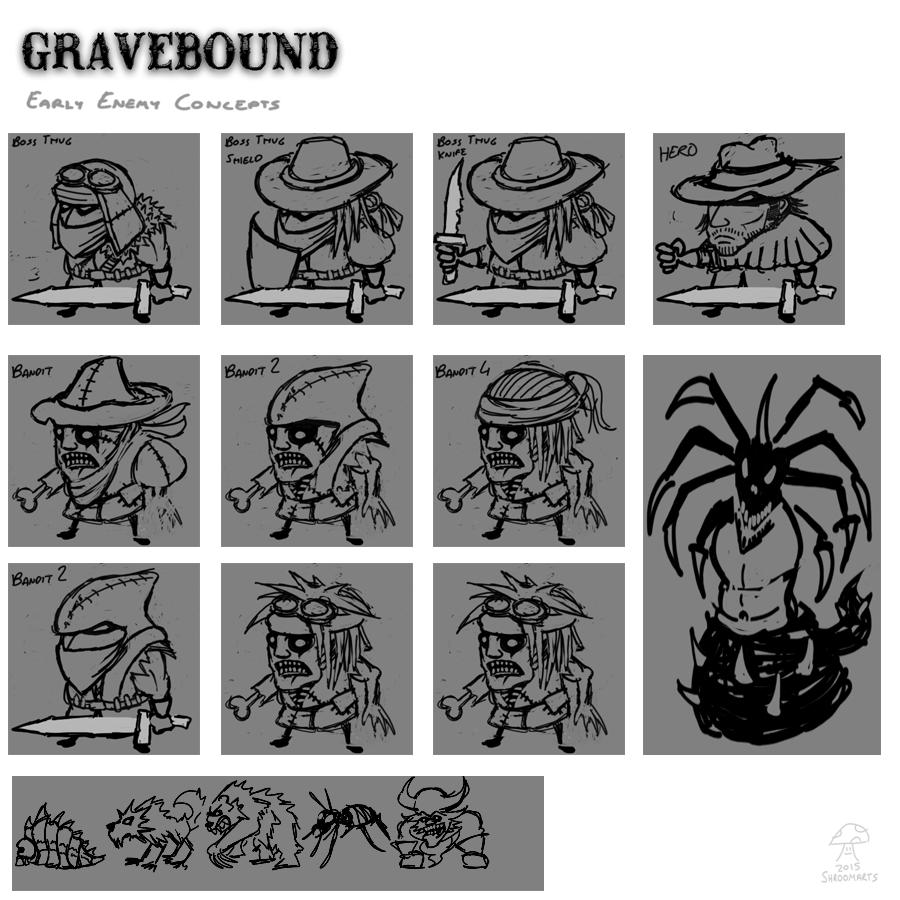 gravebound enemy concepts