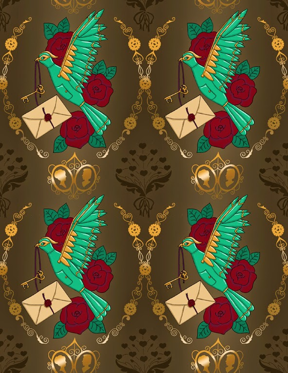 Steampunk Valentines Spoonflower Urban Threads weekly contest