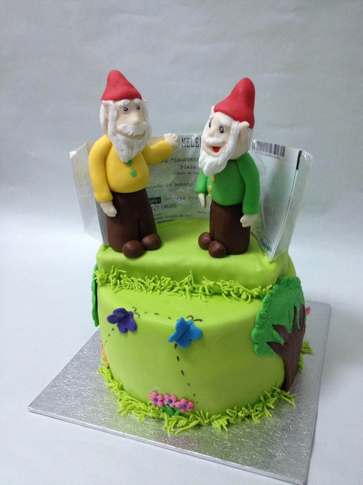 Cakelandia dulce tarta tu jard n con enanitos - Mi jardin con enanitos ...