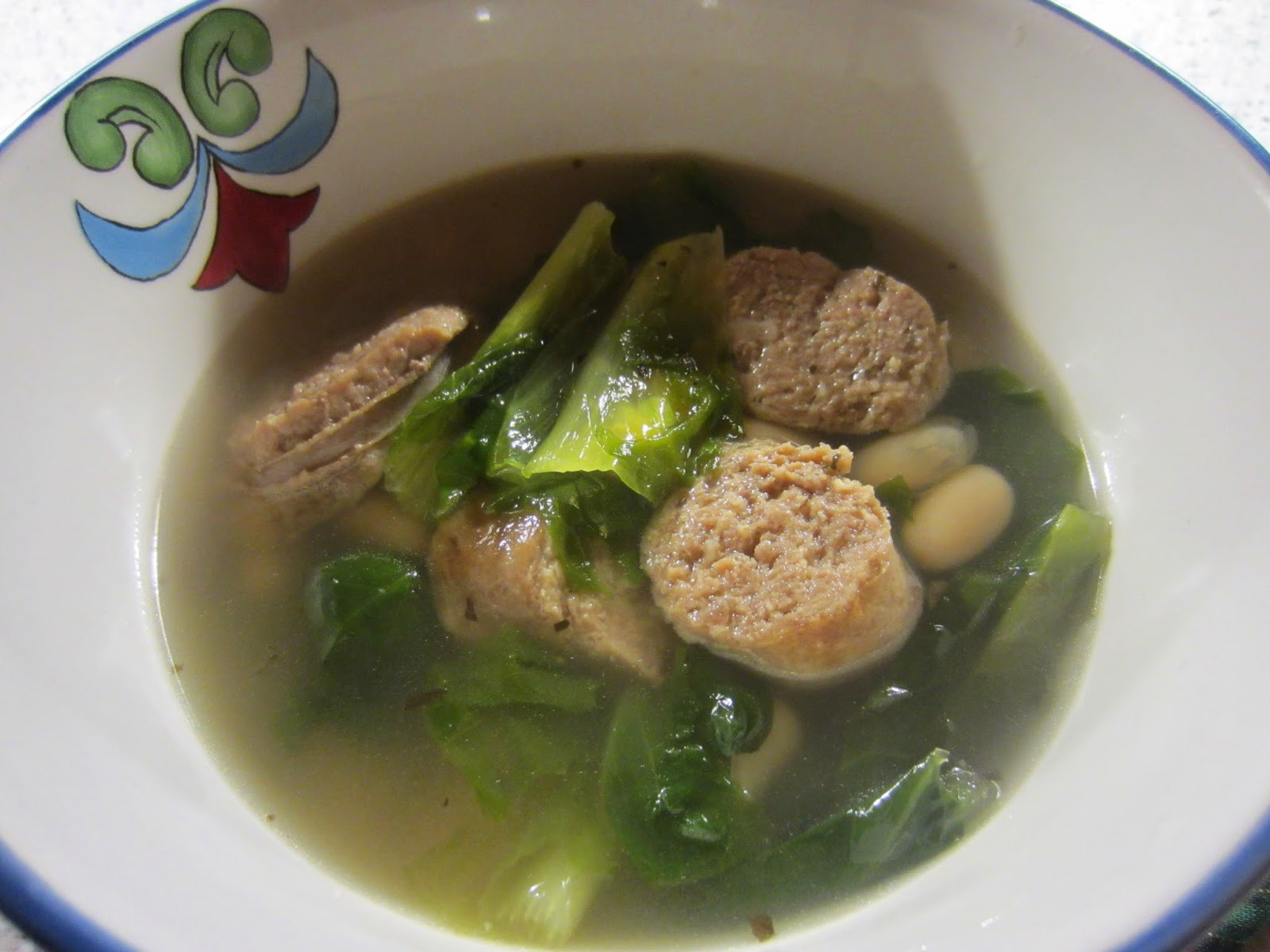 THE FOOD OF LOVE: Turkey Sausage, Escarole, and White Bean Stew