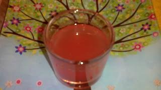zumo de sangría y lima