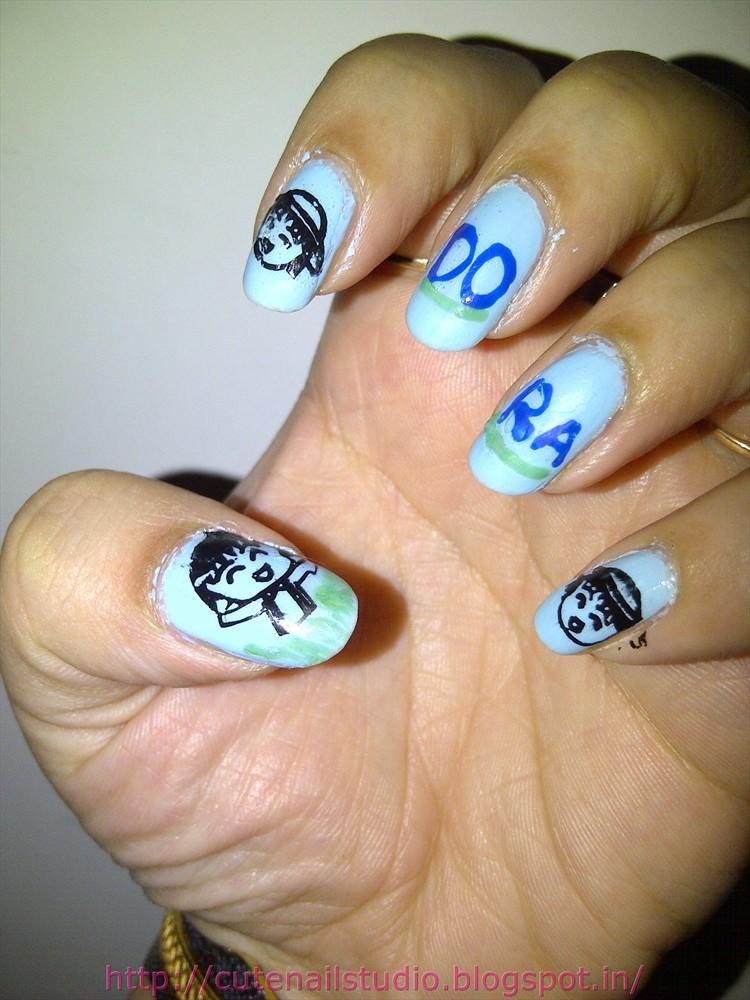 Cute Nails Dora The Explorer Nail Art