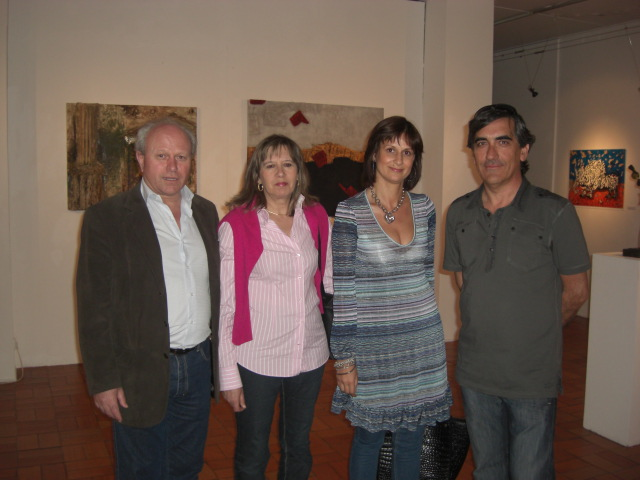 Urbano, Carla and the Director of the Lamego Museum and his wife