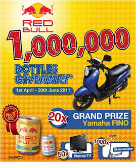 Red Bull '1,000,000 Bottles Giveaway' Contest