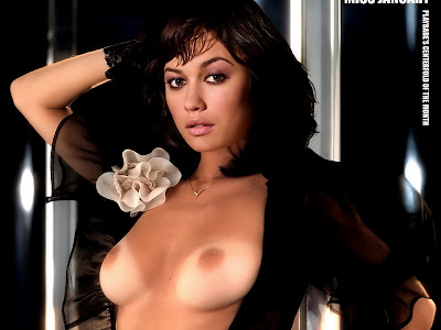 Olga Kurylenko naked in Playboy January hot tits nice breast sexy hairy pussy