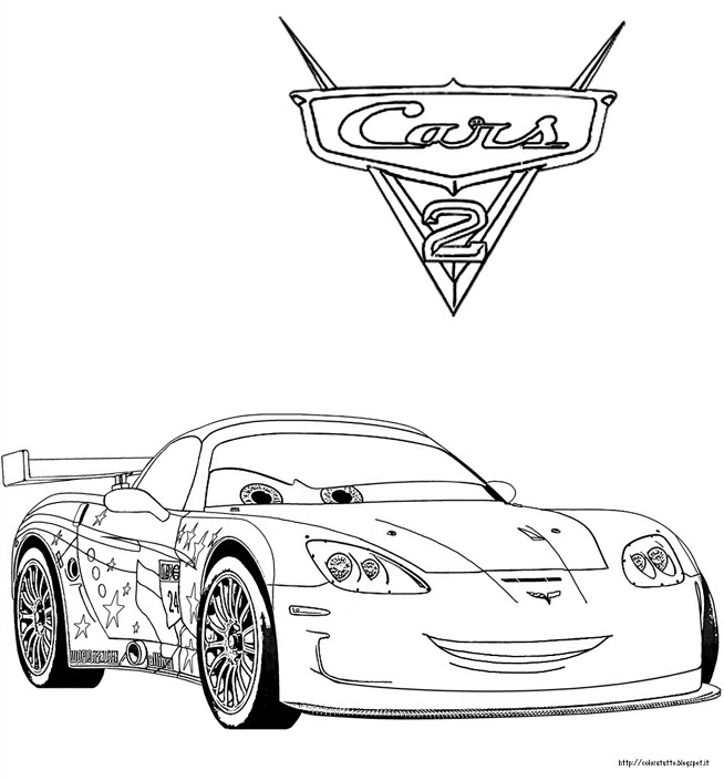 Personaggi Jeff Corvette Di Cars  Da Stampare