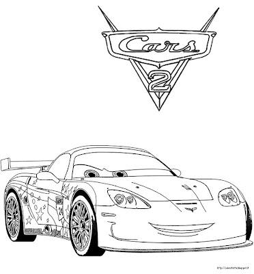 cars 2 disegno da colorare n 1