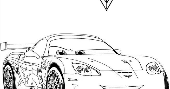 Personaggi cars da colorare disegno n