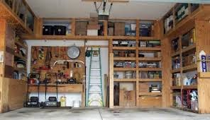 garage storing shelves