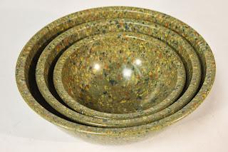 Melmac confetti mixing bowls