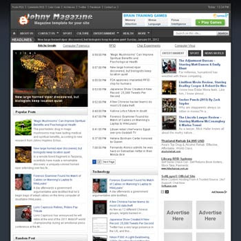 Johny Magazine blogger template. clean template for blogger template. portal news blogger template