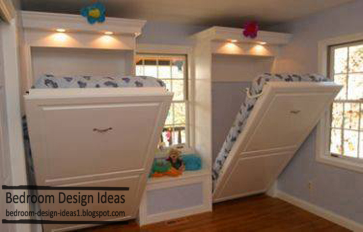 small bedroom design ideas, drop-down bed designs for kids bedroom