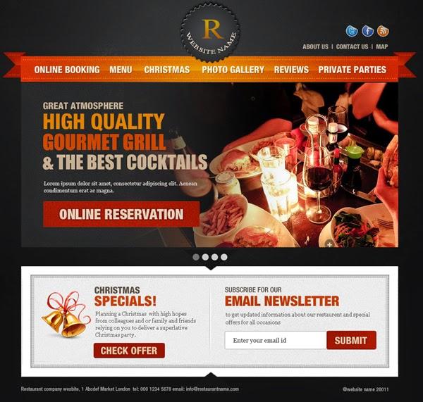Restaurent Website PSD Template