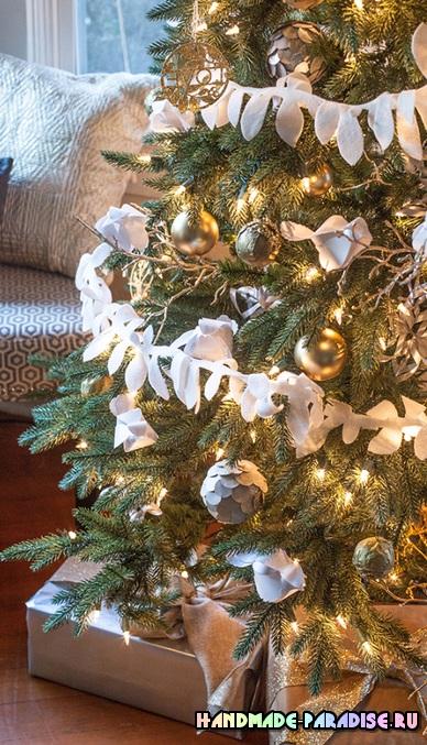 Новогодние подвески из бумаги