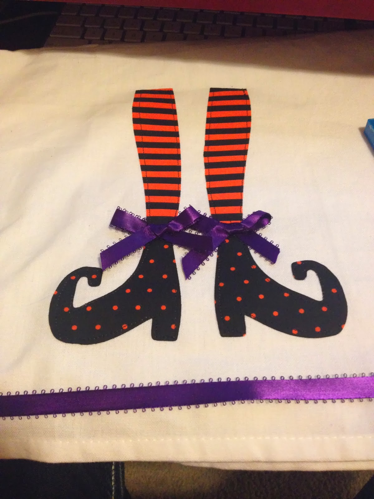 Then we made halloween witch leg dish towels - Seven mistakes we make when using towels ...