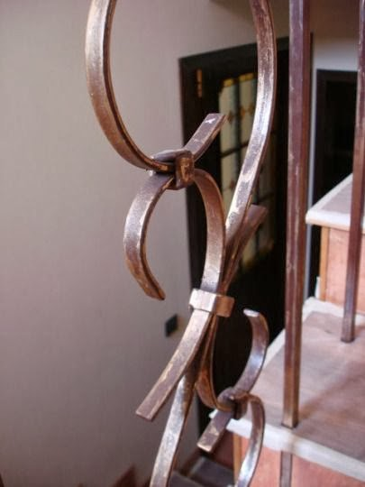 Стълби парапет ковано желязо 2