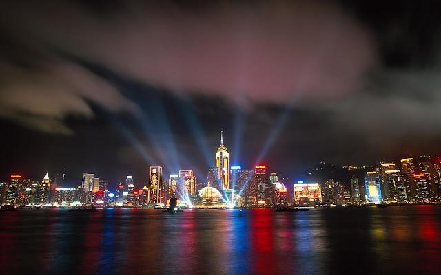 Hong Kong Night View in China