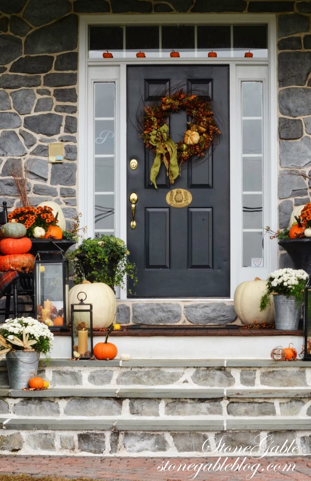 OUTDOOR IDEAS FOR FALL DECORATING  StoneGable