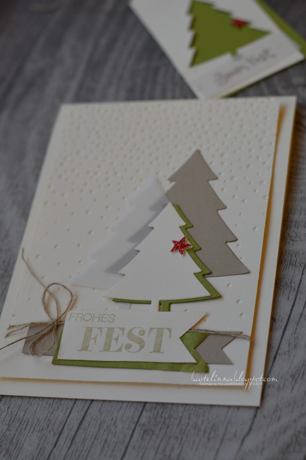 Bastelinna noch mehr b ume - Weihnachtskarten kreativ ...
