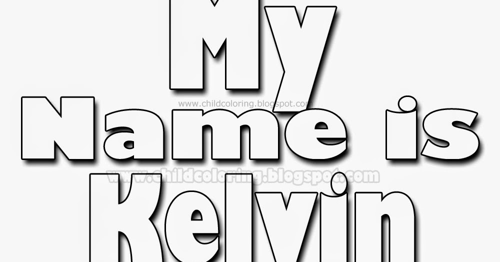 My Name Is Kelvin Coloring