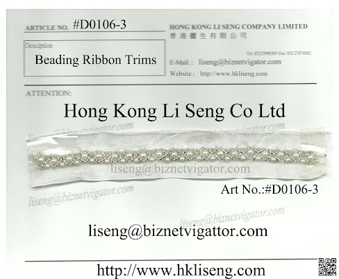 Beaded Lace Ribbon Supplier And Manufacturer - Hong Kong Li Seng Co Ltd