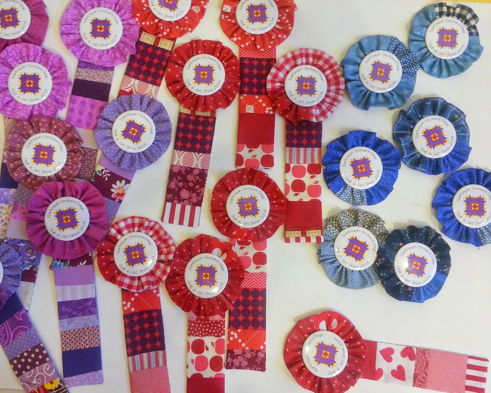 Handmade Quilt Show Winners Ribbons