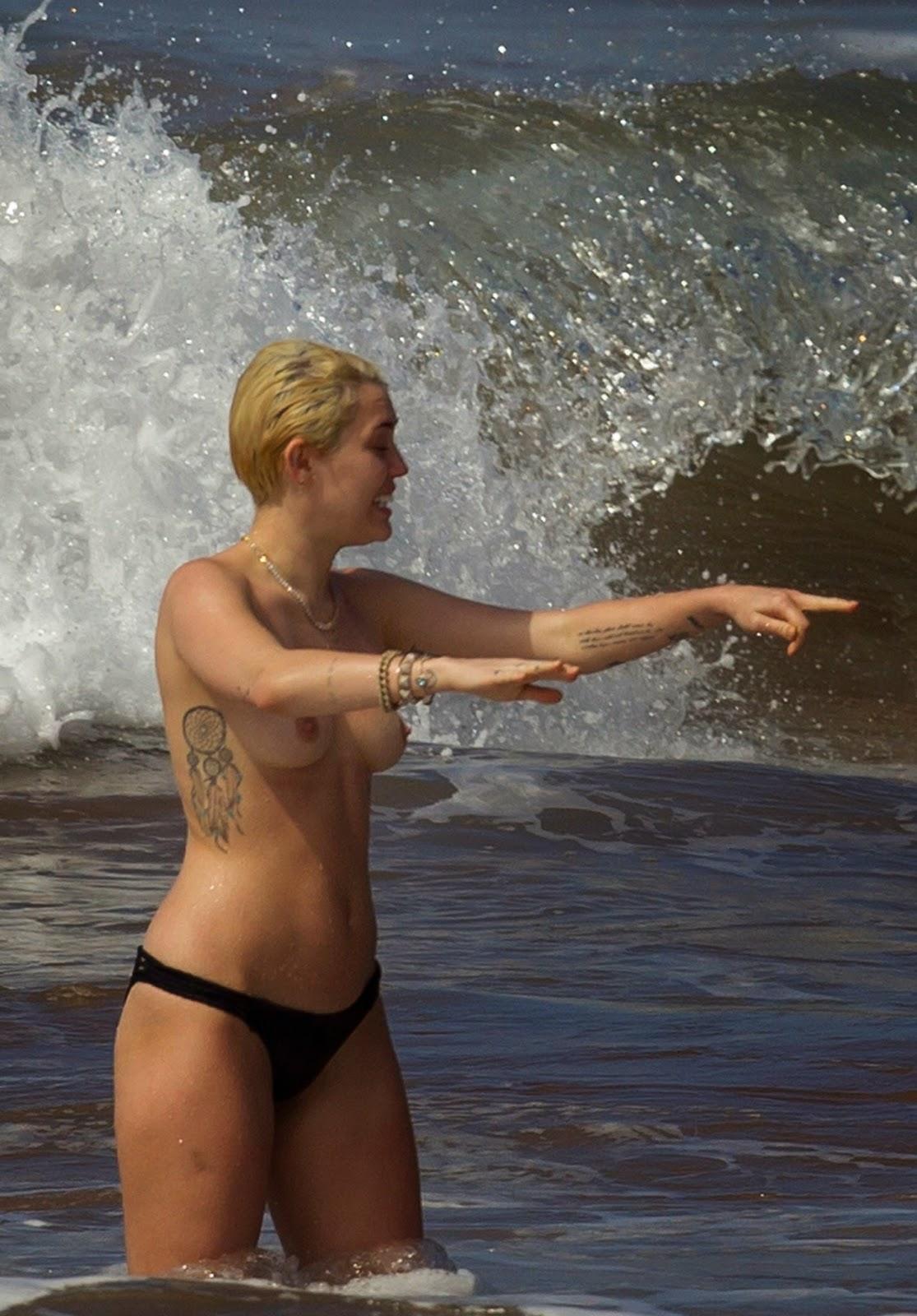 Miley Cyrus y sus fotos desnuda no aptas para menores