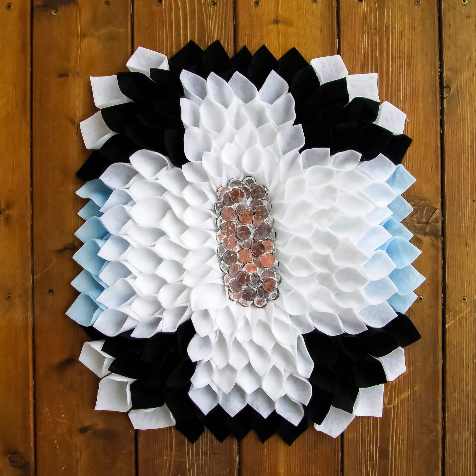 Felt Penny Wreath by Muslin & Merlot
